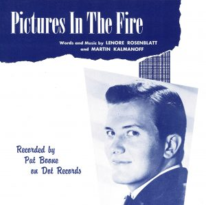 Pat Boone-Pictures In The Fire (SHEET MUSIC)