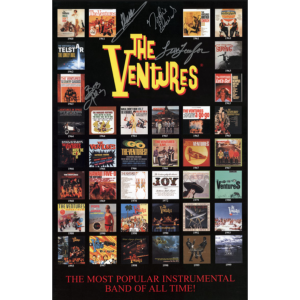 The Ventures Album Cover Poster-Autographed