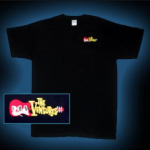 V00007 The Ventures Flaming Guitar : Logo Black Tee.
