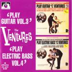 "V00011 The Ventures 2 Albums on 1 CD ""Play Guitar"" 3 : ""Play E. Bass Vol. 4"""