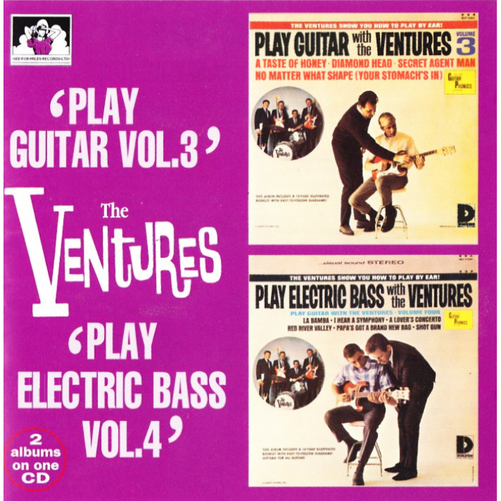 "The Ventures 2 Albums on 1 CD ""Play Guitar Vol. 3"" / ""Play Electric Bass Vol. 4"""