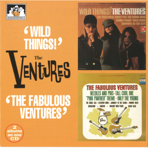 "The Ventures 2 Albums on 1 CD ""Wild Things"" / ""The Fabulous Ventures"""