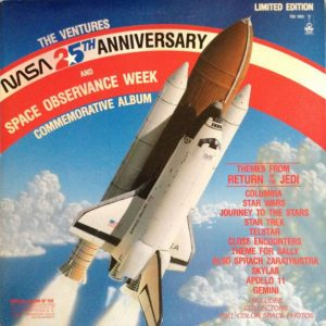The Ventures NASA 25th Anniversary And Space Observation Week Commemorative Clear Vinyl LP