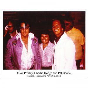 Pat Boone & Elvis 8x10 (Color) - Autographed by Pat Boone