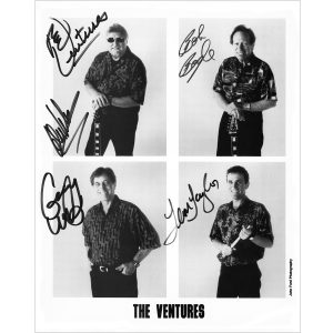 The Ventures 8x10 (B&W Reproduction) - Autographed